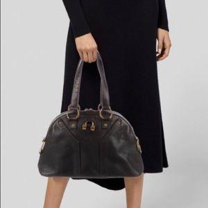 Saint Laurent YSL Muse Chocolate Brown Bag